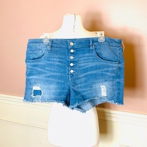 Mossimo High Waisted Distressed Jean Shorts